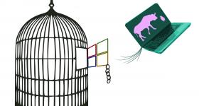 Install party. Vine amb Windows i surt amb Gnu/linux instal.lat!
